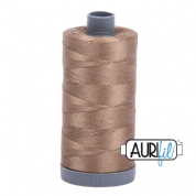 Aurifil 28 Cotton Thread - 2370 (Light Brown)